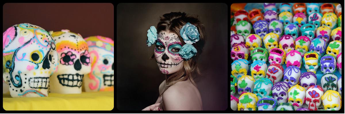 collage1 makijaż +czaszki