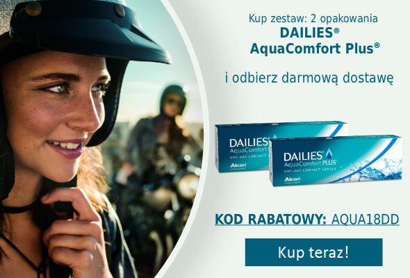banner promujący Dailies AquaComfort PLUS